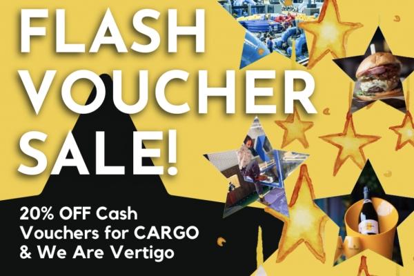 FLASH SALE ON CASH GIFT VOUCHERS!