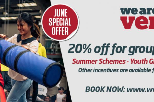 20% OFF Summer Schemes, Youth Groups & Corporates this Summer!