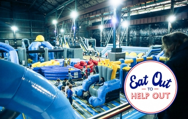 Eat Out To Help Out - Titanic Inflatable Park Session + Pizza Deal (Mon-Wed only)