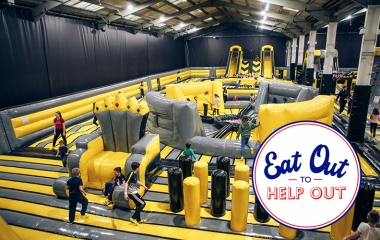 Eat Out To Help Out - Newtownbreda Inflatable Park Session + Pizza Deal (Mon-Wed only)